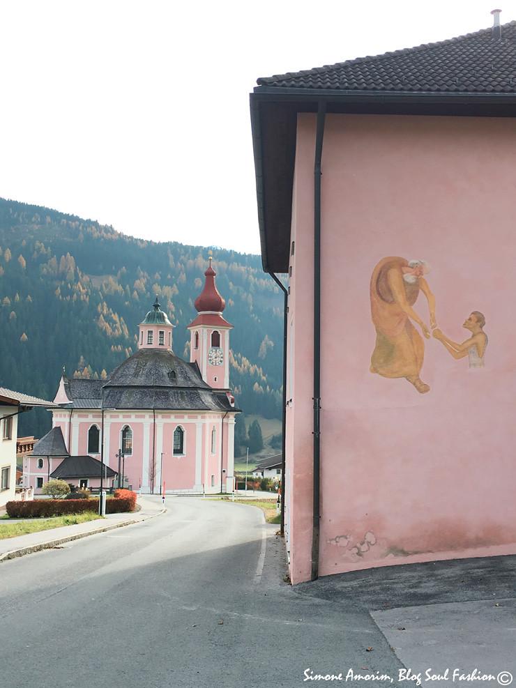 A cidade de Strassen na Áustria.
