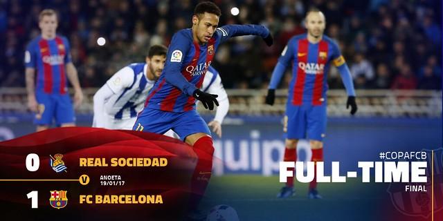 Copa del Rey - Cuartos de Final (Ida): Real Sociedad 0 - FC Barcelona 1
