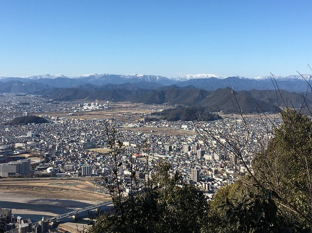 金華山 山頂部からの眺望