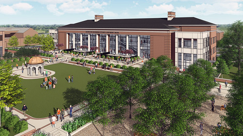 An artist's rendering of the new Brown-Kopel Engineering Student Achievement Center.