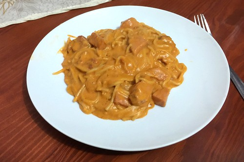 18 - Dominikanische Spaghetti mit Kasseler / Dominican Spaghetti mit smoked pork