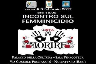 Noicattaro. Incontro sul femminicidio front