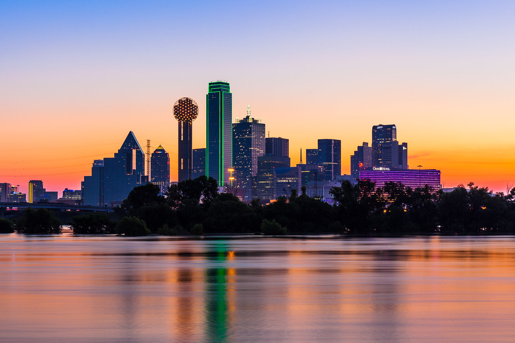 0603 dallas skyline at sunrise june 3 my day got started