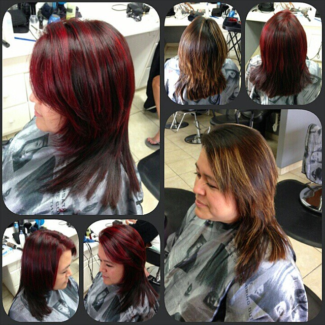 Highlight Multi Toned Red Hair Color I Refreshed Her Hig Flickr