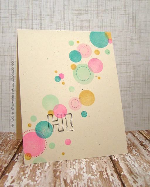 Jen Carters Whimsy Circles Circles Circles Stitched Alphas