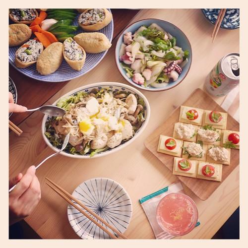 .@hatoco_o の料理がお店開けるレベル。 #lunch #party #dish