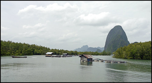Mangrove canal and view of Koh Daeng