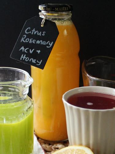 Citrus, Rosemary, Apple Cider Vinegar & Honey 'tea'
