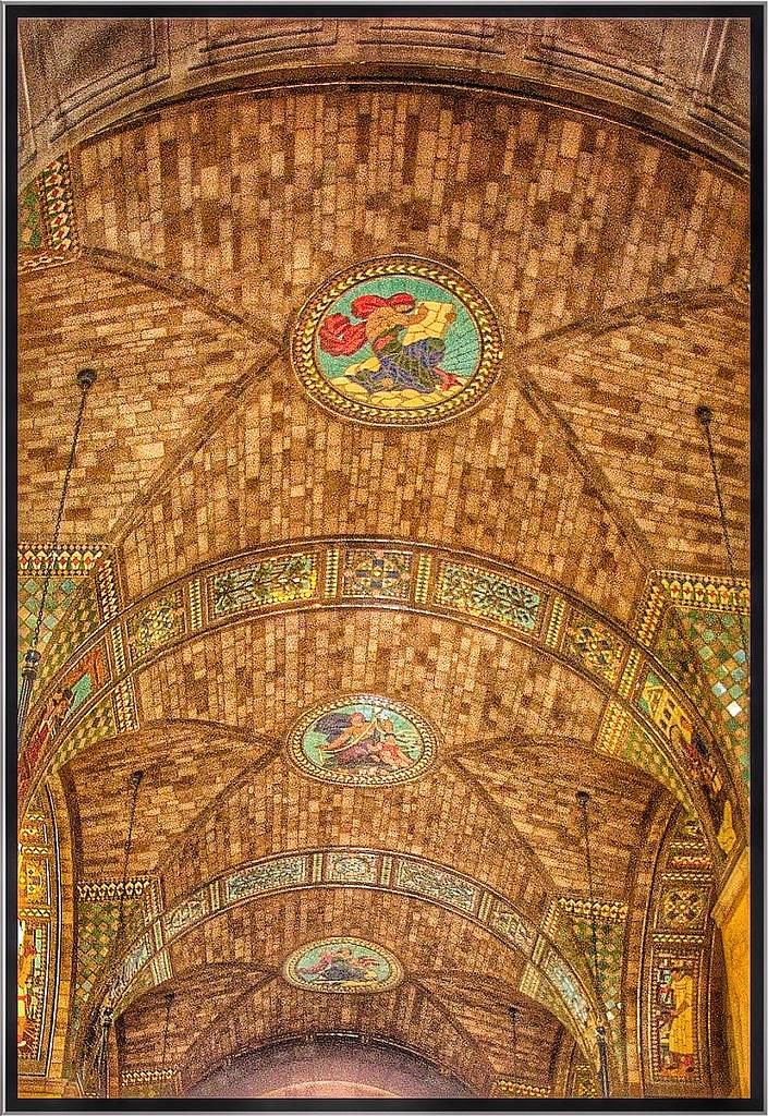 Lincoln Nebraska State Capitol Interior Rotunda Mosaic