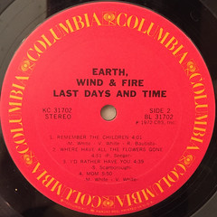 EARTH,WINF & FIRE:LAST DAYS AND TIME(LABEL SIDE-B)