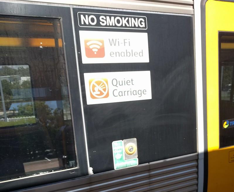 Queensland Rail: Quiet carriage