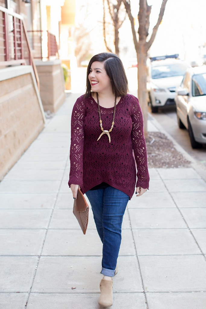 Cranberry Sweater-@akeeleywhite-Head to Toe Chic