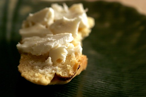 lemon truffle biscotti with chevre | by Lara Ferroni