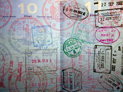 My collection of passport stamps | by hjl