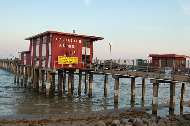 Fishing pier galveston island texas flickr photo for Fishing galveston tx
