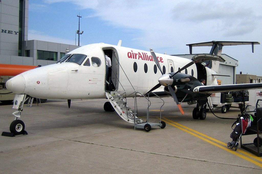 air canada beechcraft 1900d flying halifax sydney route