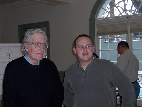 Me with Noam Chomsky | by unionblue