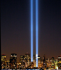 "NYC Twin Lights 9/11 ""Tribute in Lights""  Memorial 2005 