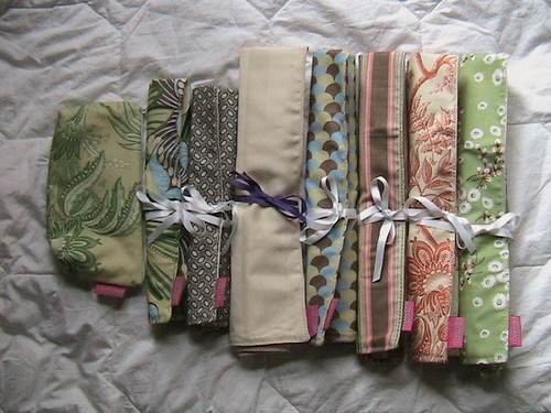 Knitting needle rolls | by nikkishell