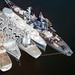 Battleship USS Iowa in storage at Suisun Bay, California