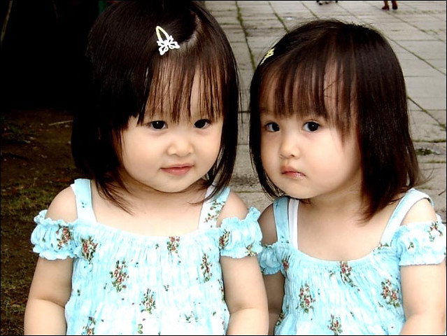 Female asian twins