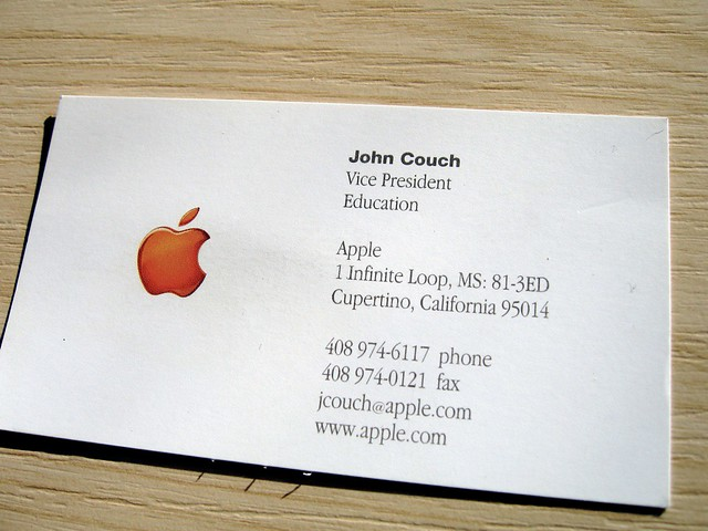 Apple business card the earliest employee of apple that i flickr apple business card by sharl colourmoves