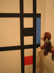 George checks out Mondrian. | by Hawthorn M.