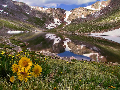 Reflections of Mt. Evans, CO  - 14,200 ft. - July '83 | by Mc Shutter