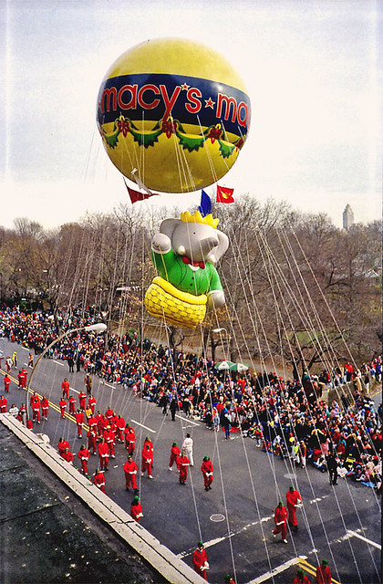 Babar Balloon At The Macy S Parade 1988 Happy