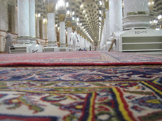 Masjid-al-Nabawi interior -- closeup of the carpet | by transposition