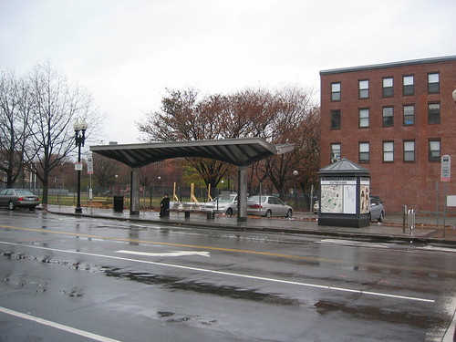 Bus shelter, Silver Line, Boston