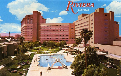 The riviera hotel casino 1967 las vegas postcard for Riviera resort las vegas