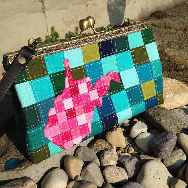 West Virginia Patchwork Purse