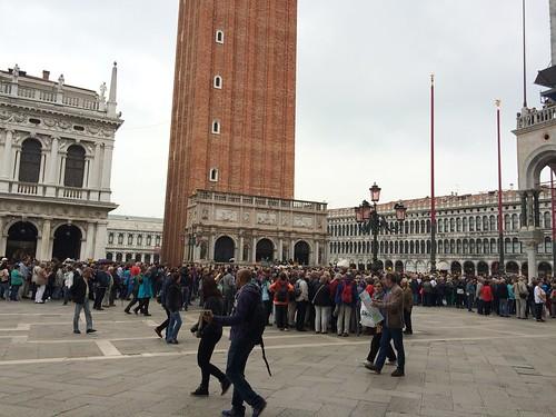 Queues in Piazza San Marco, Venice