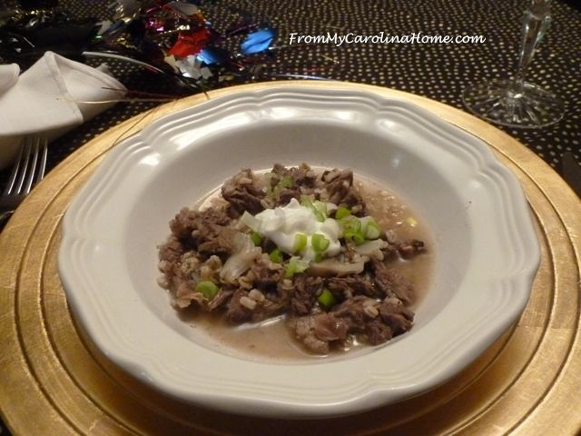 Beef Barley Stew for Two ~ From My Carolina Home