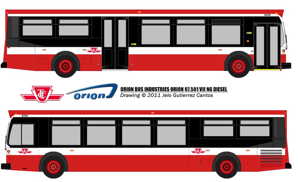 Drawing Ttc 2010 Orion Vii Ng 8159 Rendering Of Ttc