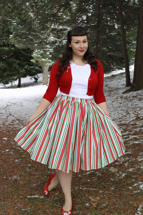 candy cane stripe jenny pinup girl clothing