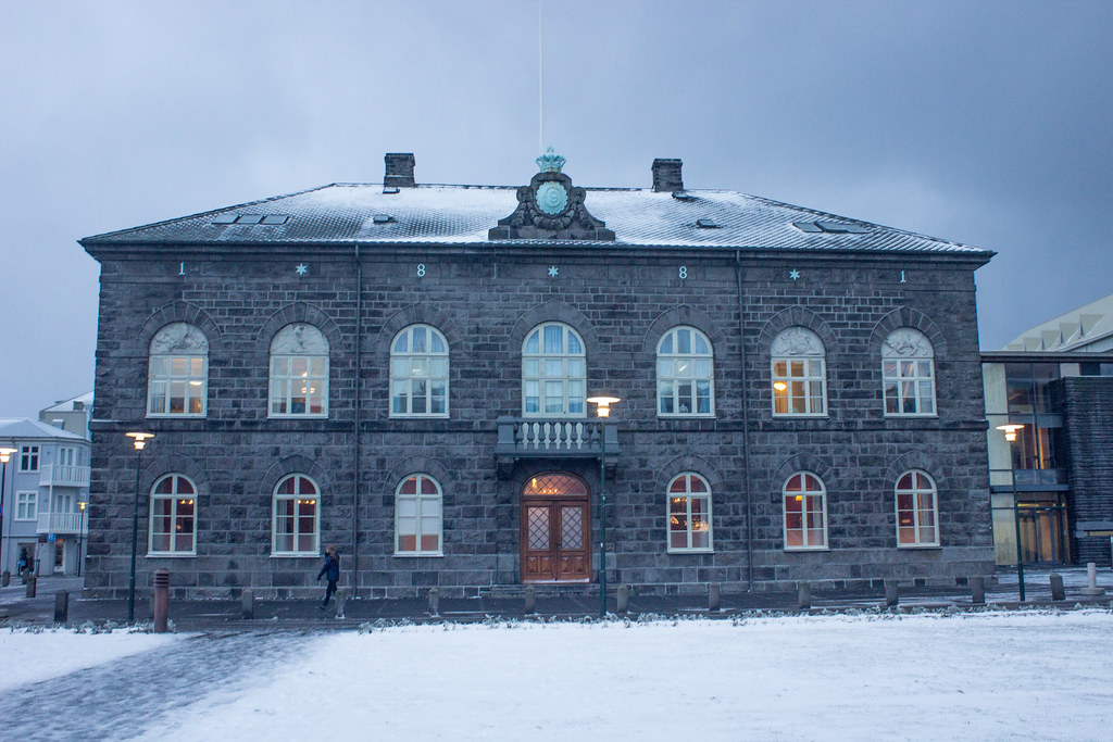 Iceland's parliament building in Reykjavik