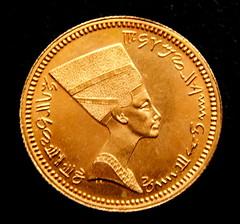 1960 Egypt Nefertiti and the Pyramids Medal obverse