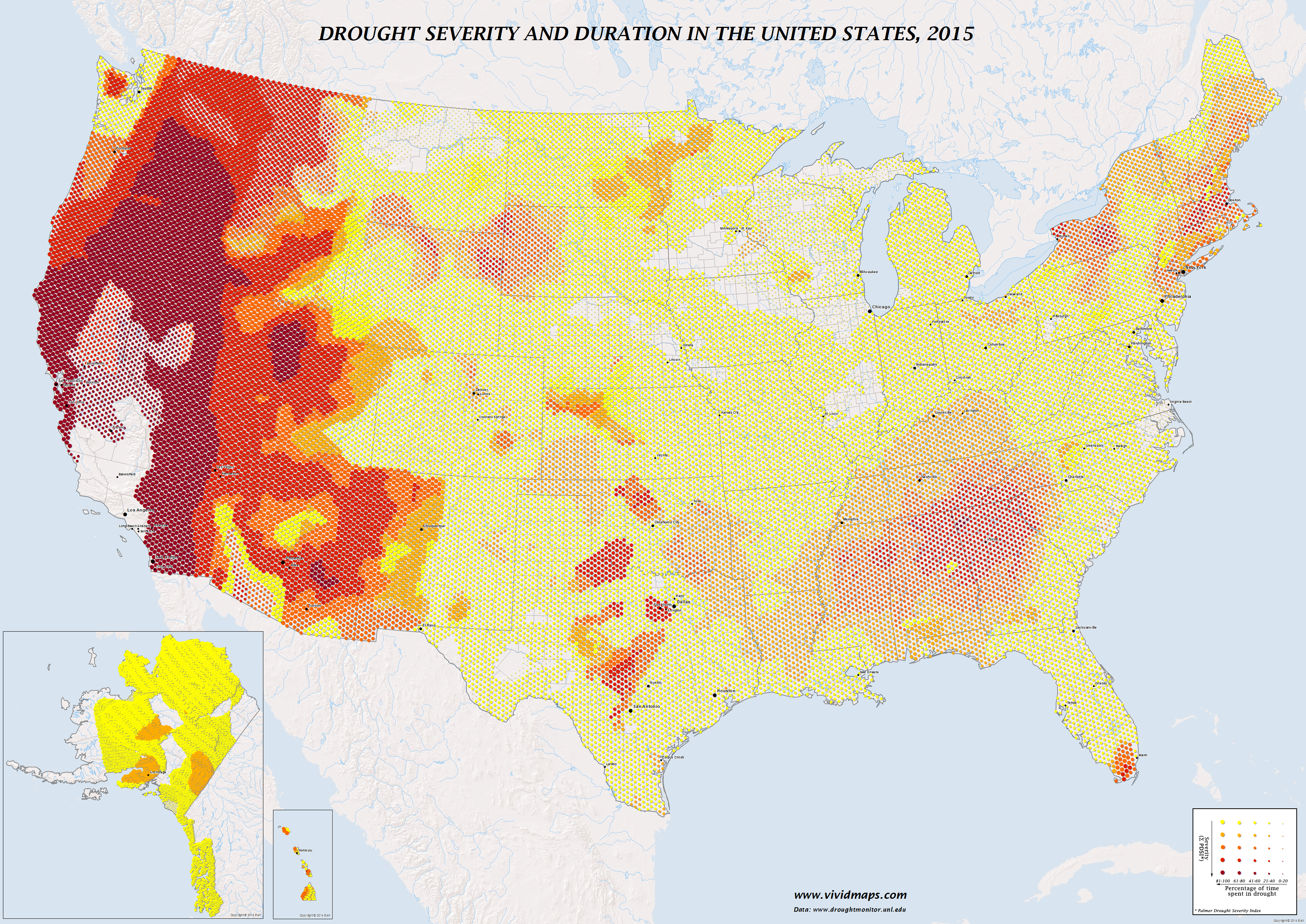 Drought severity and duration in the United States (2015)
