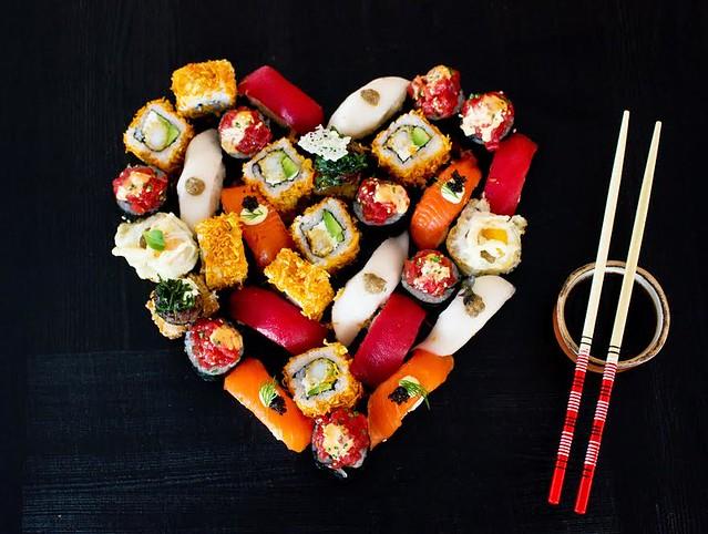 Sushita, menu San Valentín