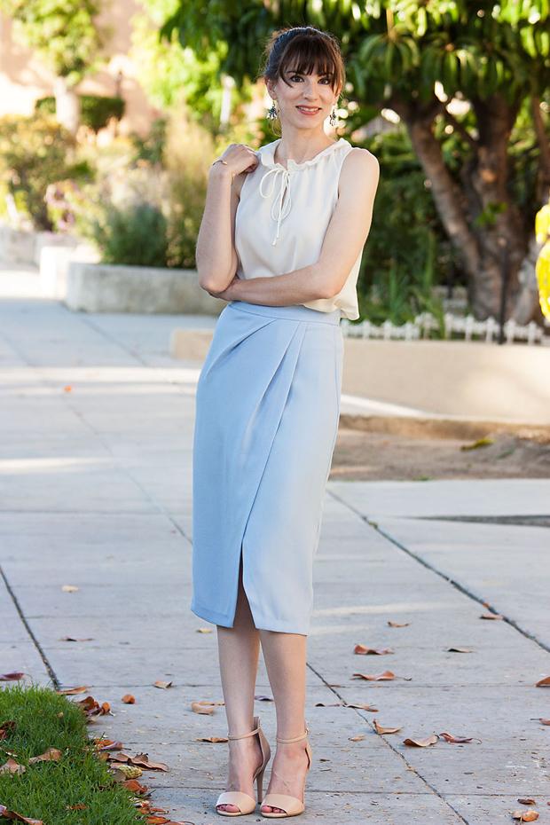 Light Blue Midi Skirt, Ruffle Blouse, Nude Heels_edited-1