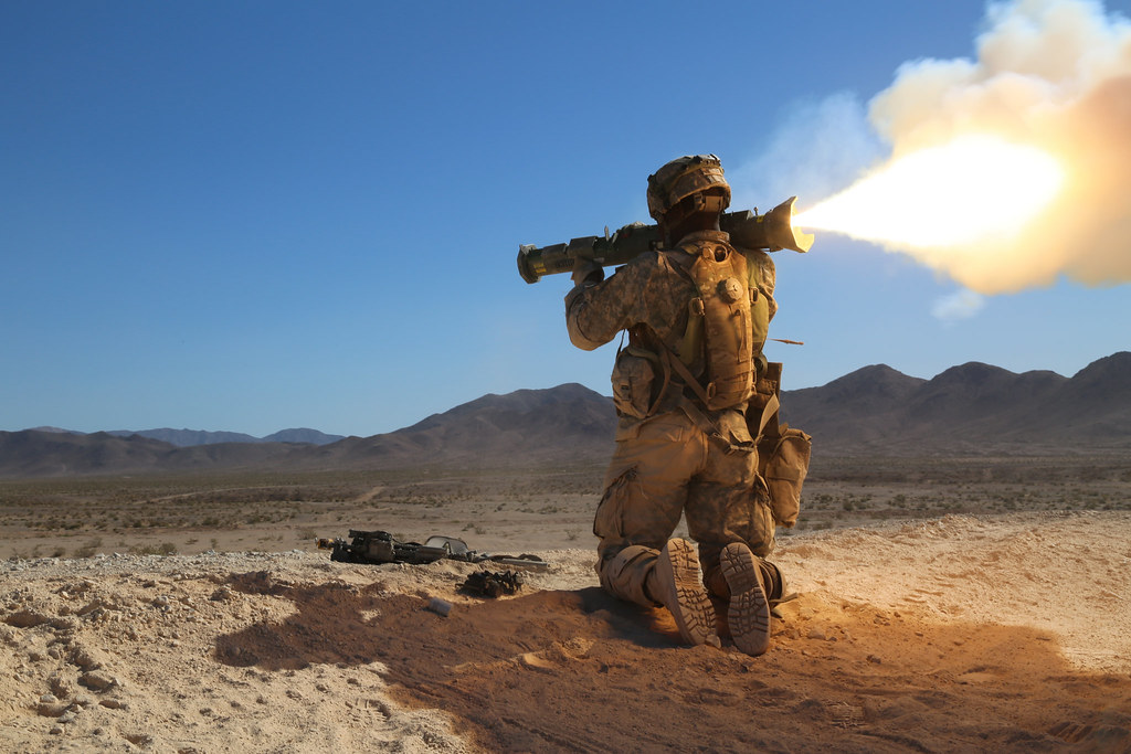 M136 At4 In Action A U S Army Soldier Assigned To 1st
