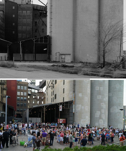 MILL DISTRICT THEN AND NOW 1987-2014 MILL SILOS AND HUMBOLDT MILL BUILDINGS  LOOKING WEST2