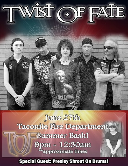 06/27/15 Twist Of Fate @ Tacoonite Fire Department Summer Bash, Taconite, MN