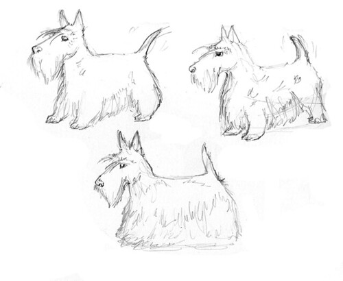 Scottie Dogs Sketch | Www.amyholliday.co.uk | Amy Holliday | Flickr
