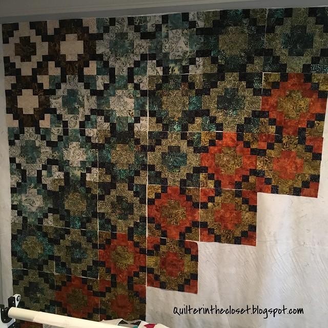 Batik tile in progress