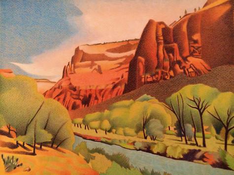 Zion Canyon. Artist Dan Miller