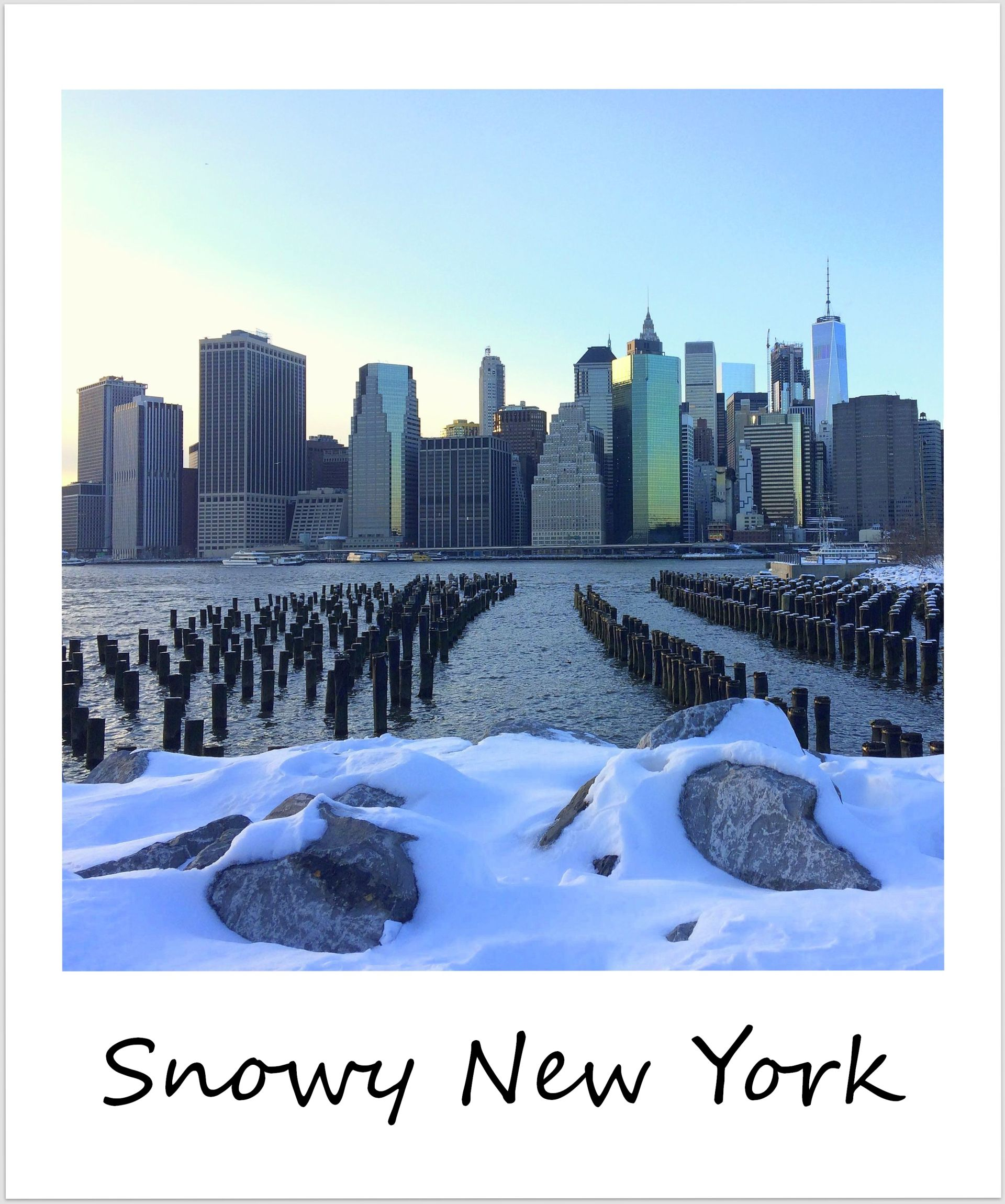 polaroid of the week USA New York City Brooklyn Bridge Park Winter