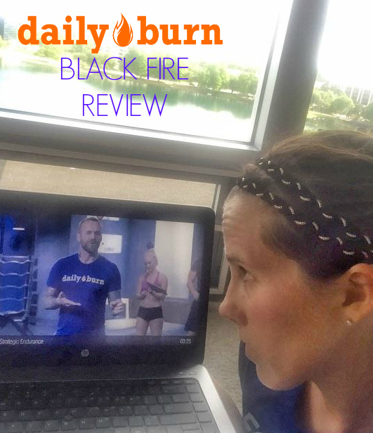 DailyBurn Black Fire Review - At home body weight strength exercises and cardio workout program